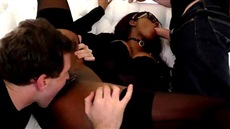 group sex black whores and two guys with white members