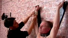 mature russian mistress punishes bound obedient slave
